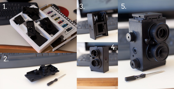 Câmera desmontada - TLR