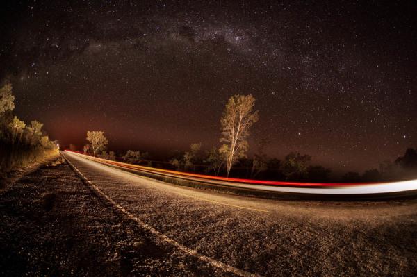 Imagem da Via Láctea, foto de estrelas
